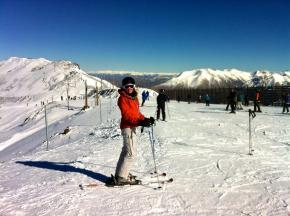 Skiing from the top of Mt Hutt
